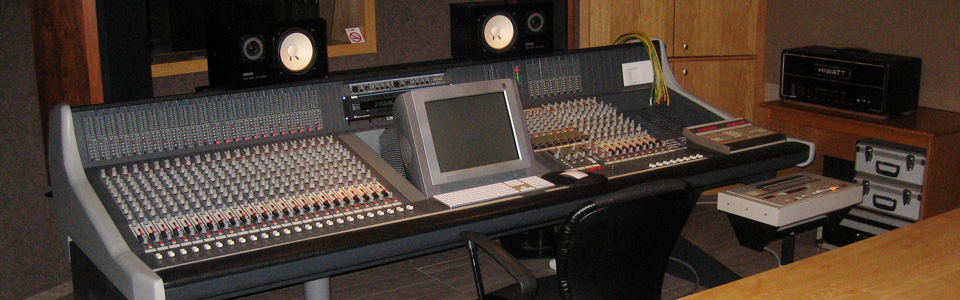 Propast Recording Studio B control room
